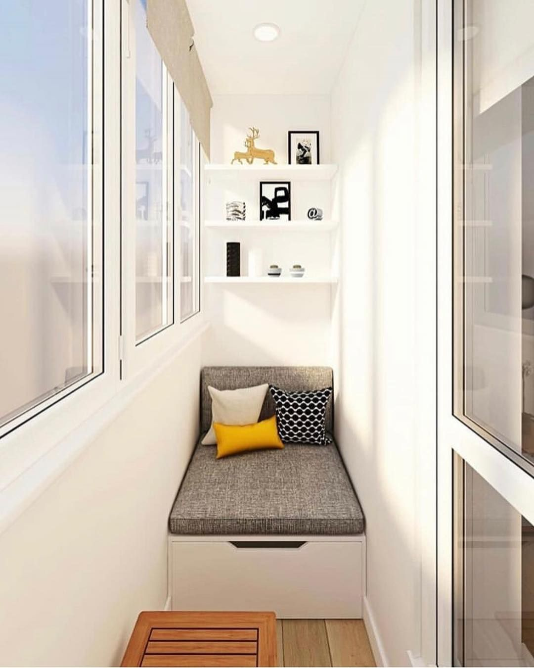 Living Room Balcony Design: 21 Cozy And Stylish Small Balcony Design Ideas In 2020