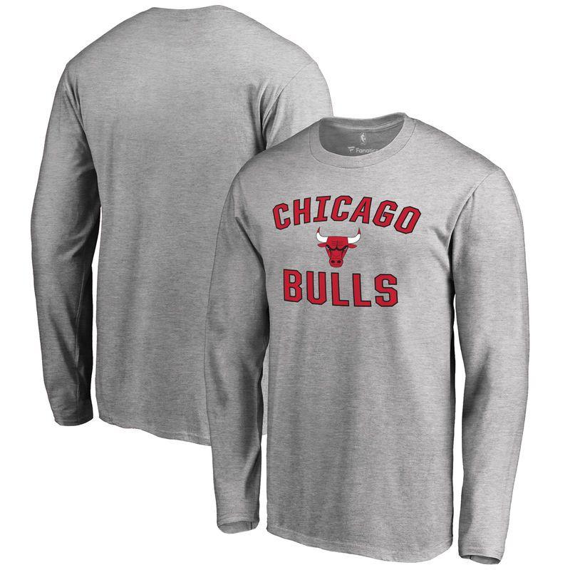 11882ebcbf1 Chicago Bulls Big   Tall Victory Arch Long Sleeve T-Shirt - Ash ...