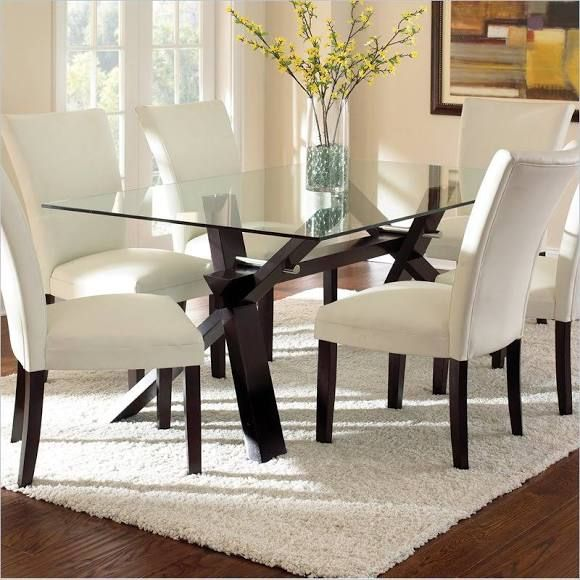 Berkley Glass Dining Table By Steve Silver