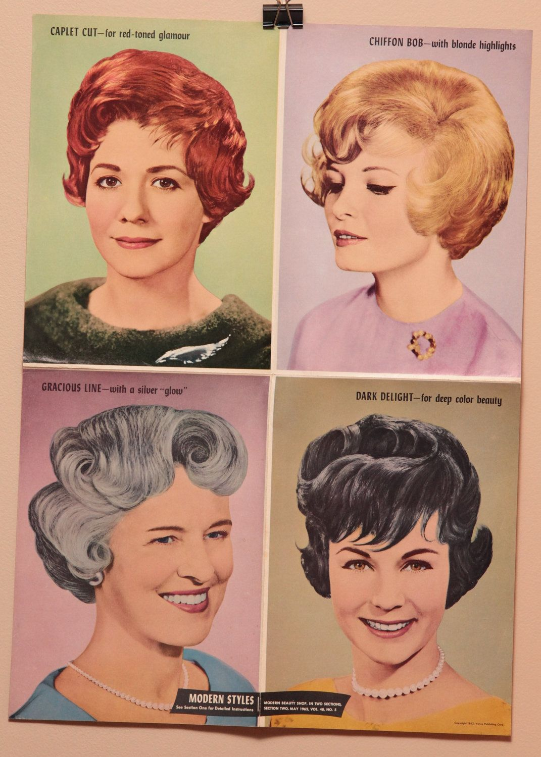 vintage hair salon poster, 16x22, 1960s | archives coiffure