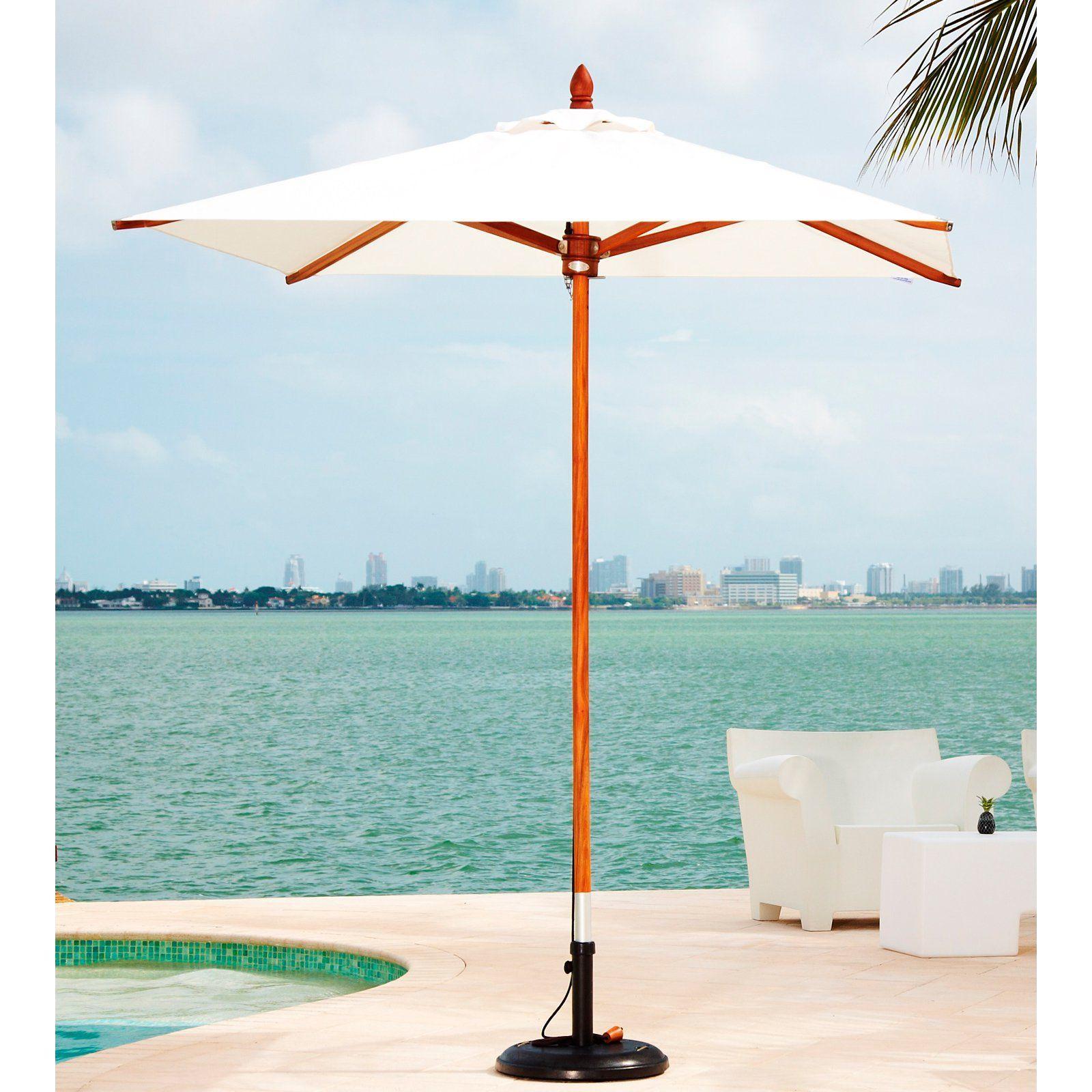 Greencorner 6 5 x 6 5 ft African Mahogany Square Patio Umbrella