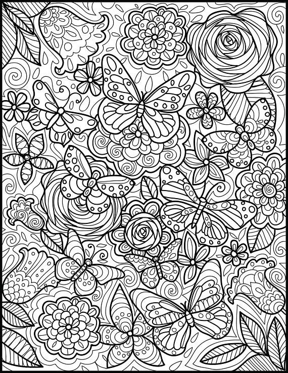Adult Coloring Page - Printable Coloring Page for ...   coloring pages for adults cool