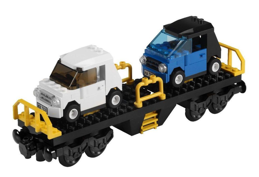 Lego City 7939 Train Smart Car Transporter Carrier Wagon New The