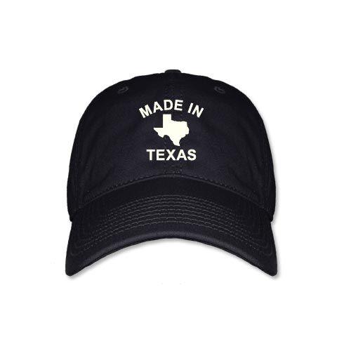 Made in Texas - Black Cap [5351CPBK] : Outhouse Designs Screen Print T-shirt Store, Keep Austin Weird!