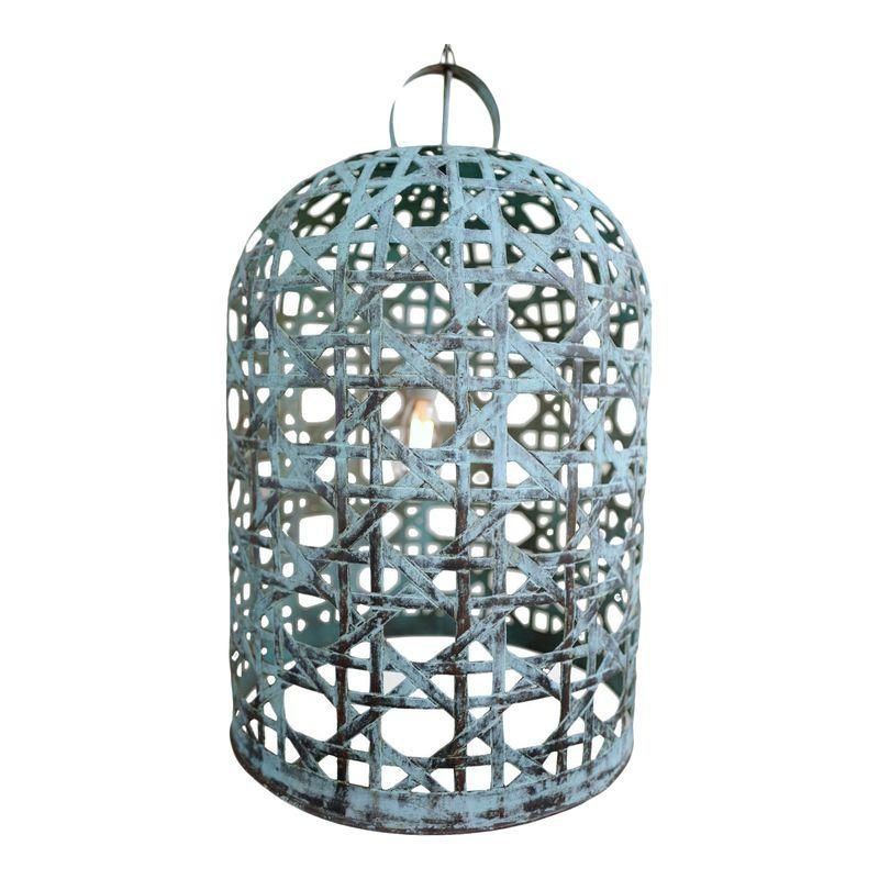 Copper Fish Basket Bell Lantern Xl Fishing Basket Handmade Lanterns Lanterns