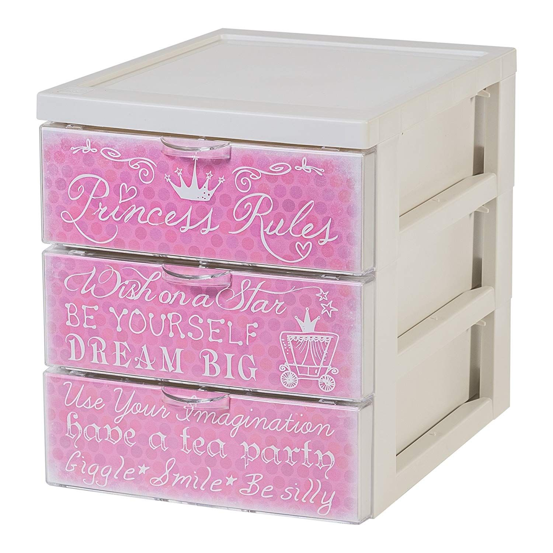 Design Schubladencontainer In Rosa Mit 3 Schubladen Passt