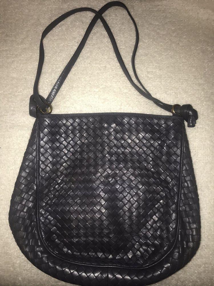 7de0a6fcb2f BOTTEGA VENETA Grey Shoulder Bag Intrecciato Woven Vintage Leather Gray  Handbag
