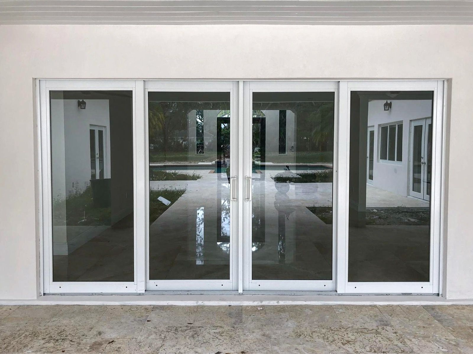 Completed Installation Of Cgi Sentinel Impact Resistant Windows And Doors Project In Pinecrest Fl The Picture Fe Windows And Doors Sliding Glass Door Windows