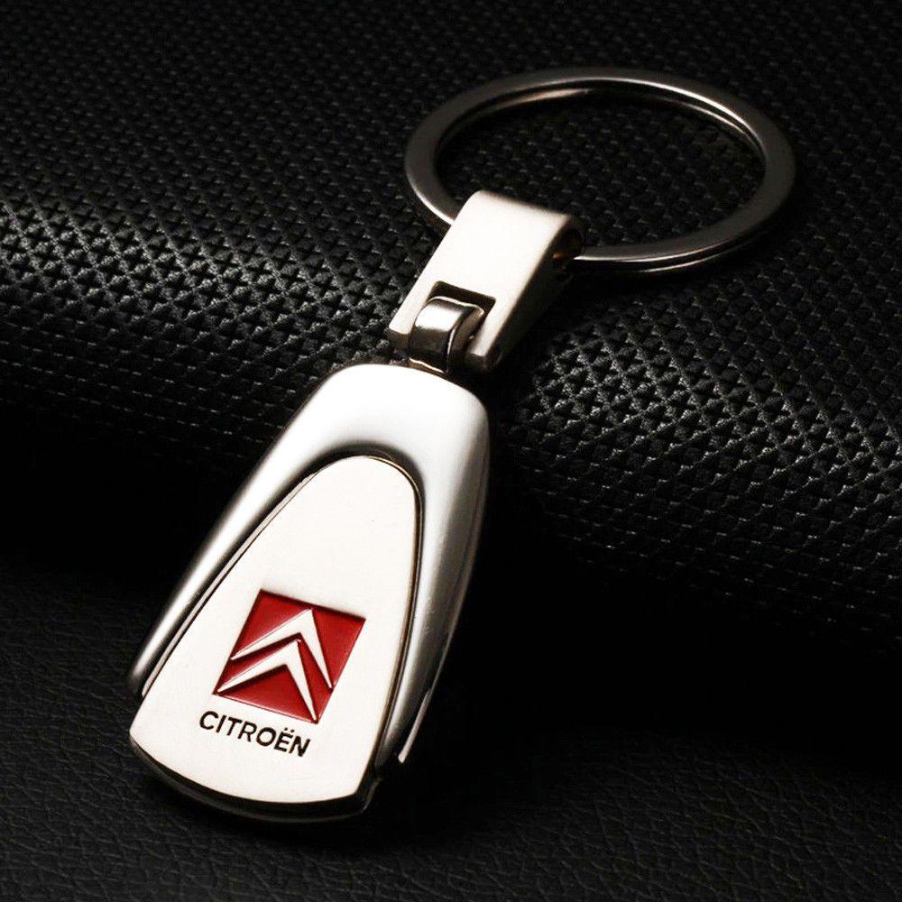 Car Logo Leather Metal Alloy Fashion Keyring Keychain Keyfob Key Holder UK Stock
