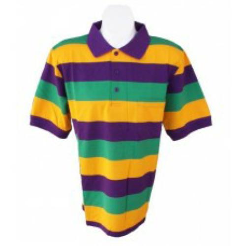 85a3f532 Mardi Gras Short Sleeve Polo Shirt | Mardi Gras | Polo Shirt, Polo ...