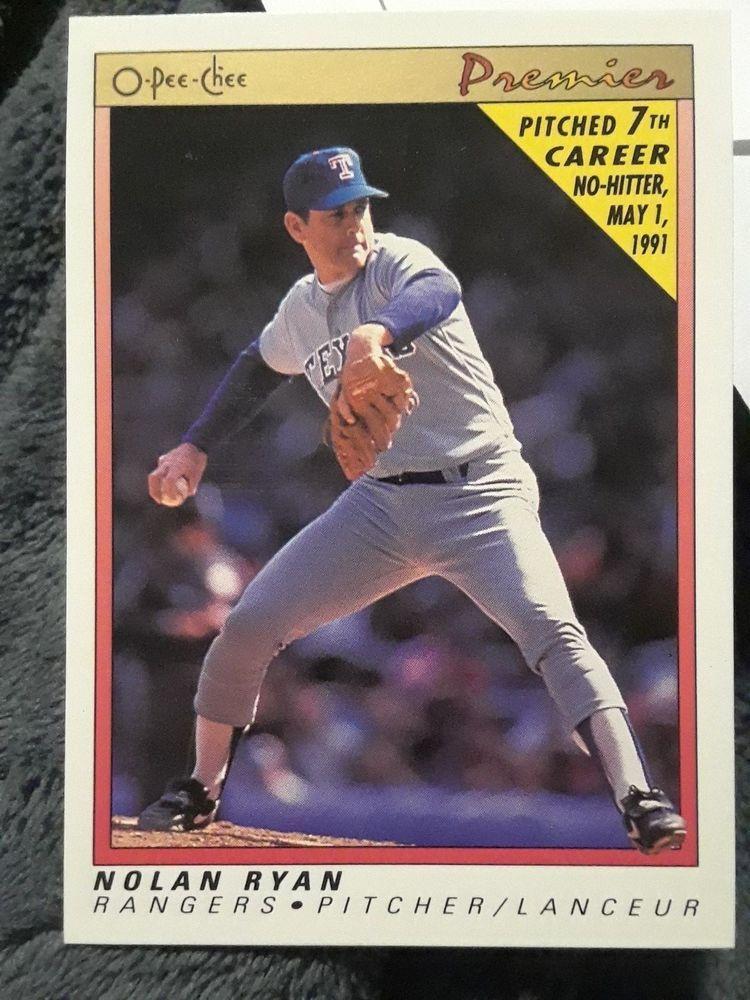 1991 opeechee premier nolan ryan 102 baseball card