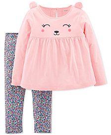 c9e91f93e Carter s Toddler Girls 2-Pc. Bear Top   Floral Legging Set