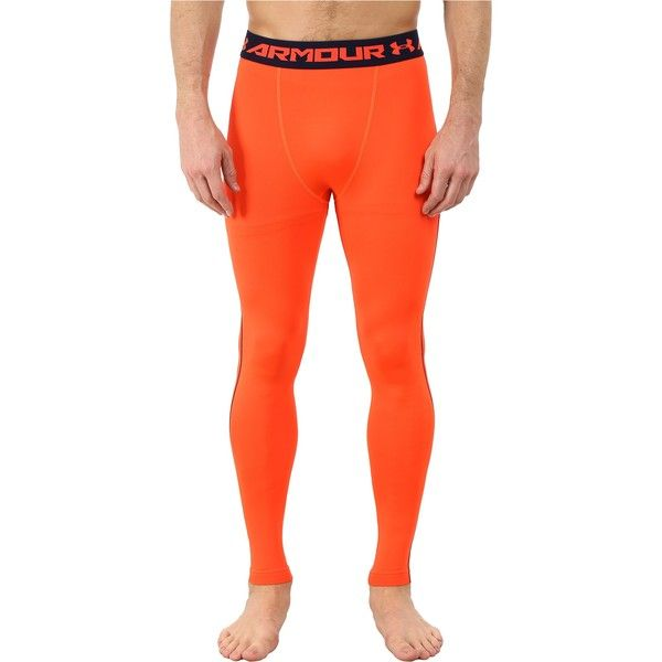 1a2edc1a2d318 Under Armour Armour Heatgear Compression Legging (Bolt Orange/Academy)...  ($30) ❤ liked on Polyvore featuring men's fashion, men's clothing, ...