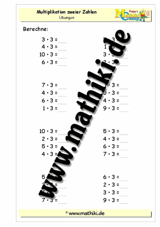 Einmaleins mit 3 - ©2011-2016, www.mathiki.de - Ihre Matheseite im ...