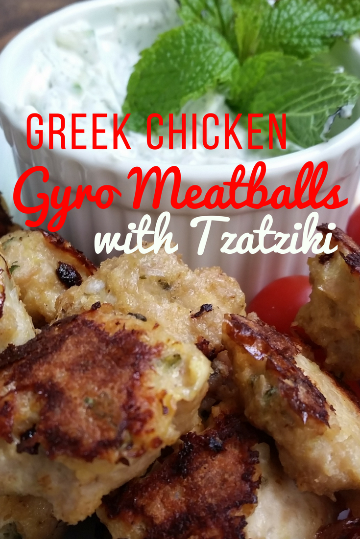 Greek Chicken Meatballs With Tzatziki Sauce Recipe