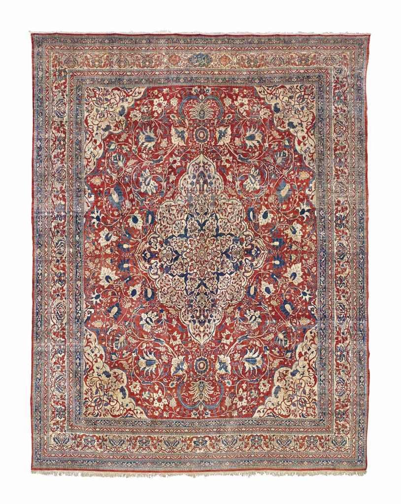 Signed Silk Heriz Carpet North West Persia Circa 1890 14ft 6in X 11ft 5in 442cm X 347cm Antique Persian Carpet Rugs On Carpet Carpet
