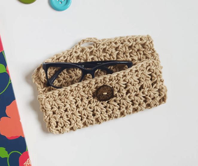 Patrón gratis ganchillo de funda para gafas | joyería | Pinterest ...