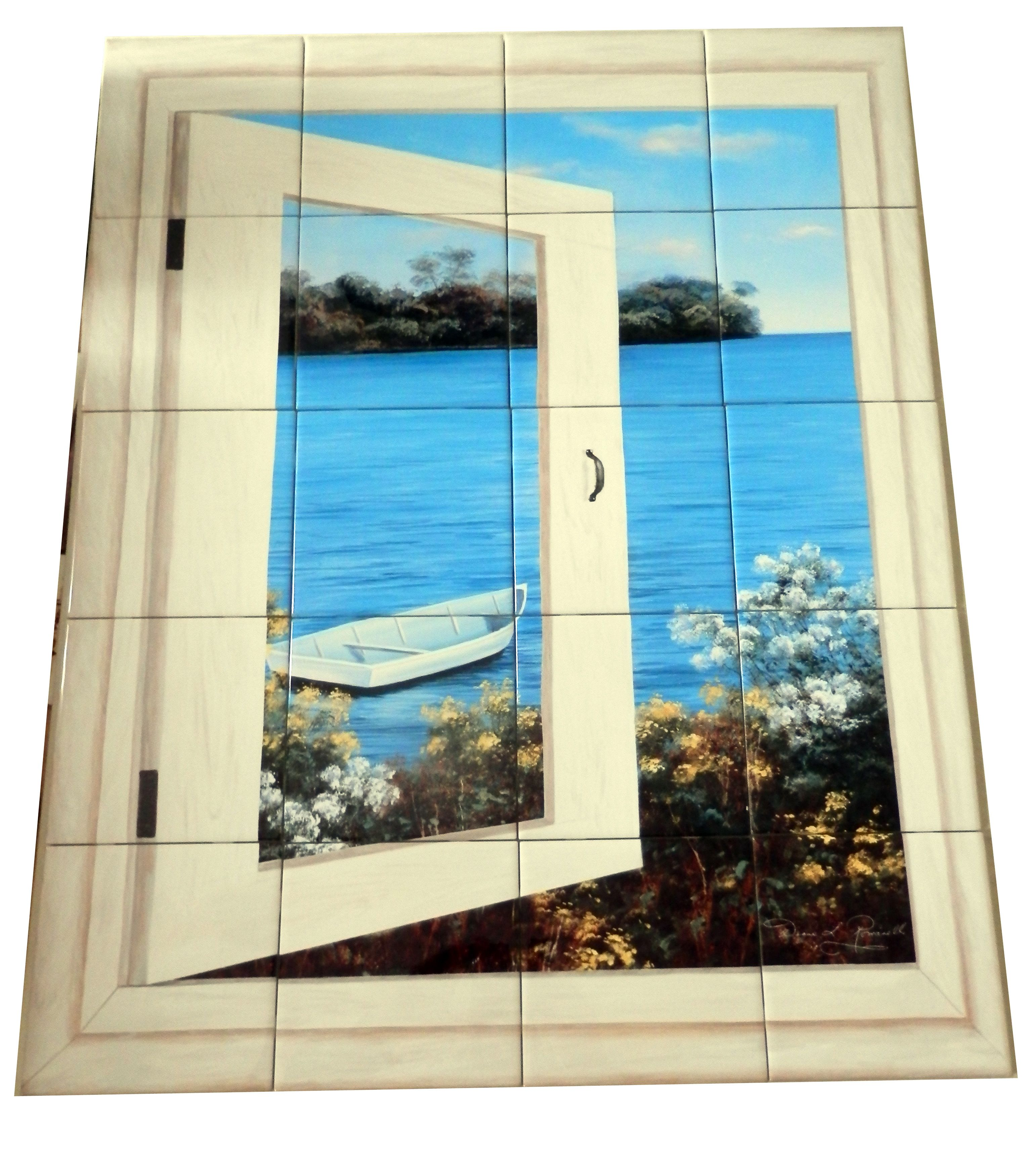 Bay Window Vista I - Tile Mural Digitally reproduced for tiles and ...