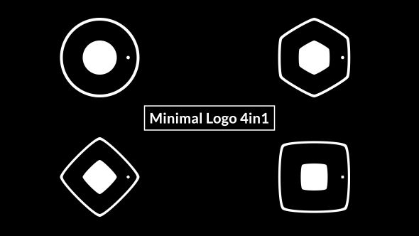 Minimal Logo 4in1 Abstract Envato Videohive