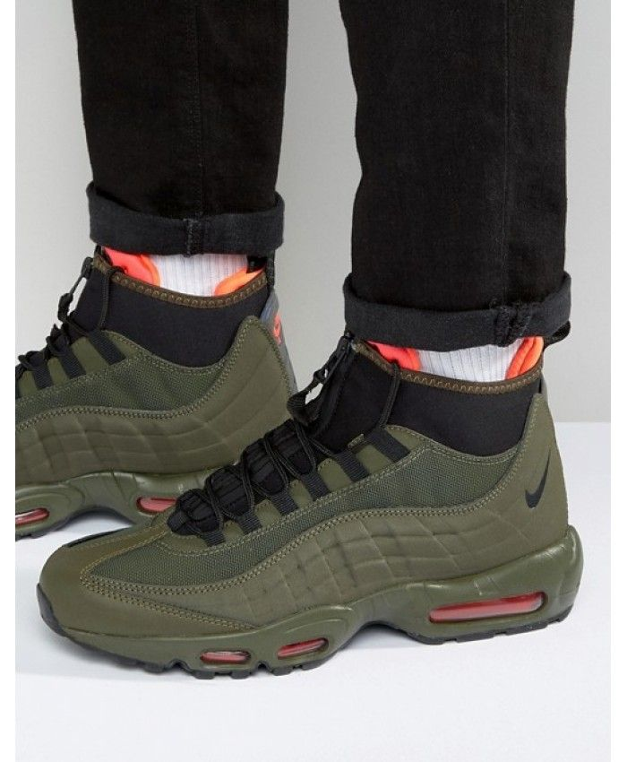 394832fdeed1 Nike Air Max 95 Sneakerboot In Green Black