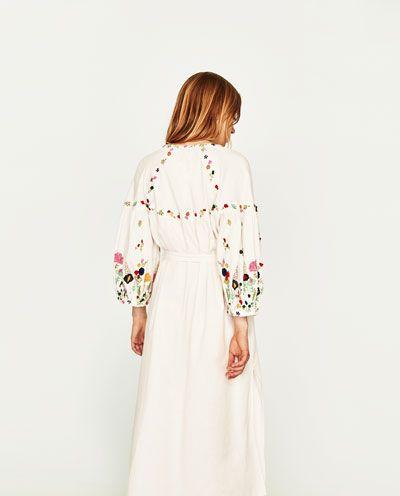 Zara femme robe blanche