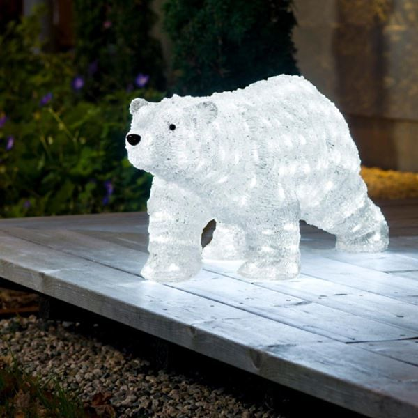 Acrylic Walking Polar Bear Christmas Display - Acrylic Walking Polar Bear Christmas Display Christmas Cheer