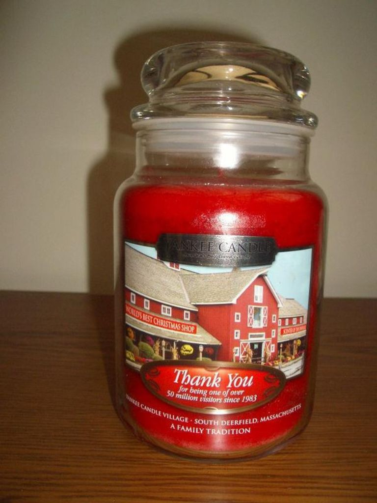 Thank You Visitors Centre Candle
