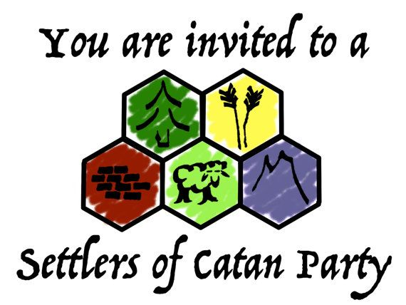 settlers of catan invitations - Google Search