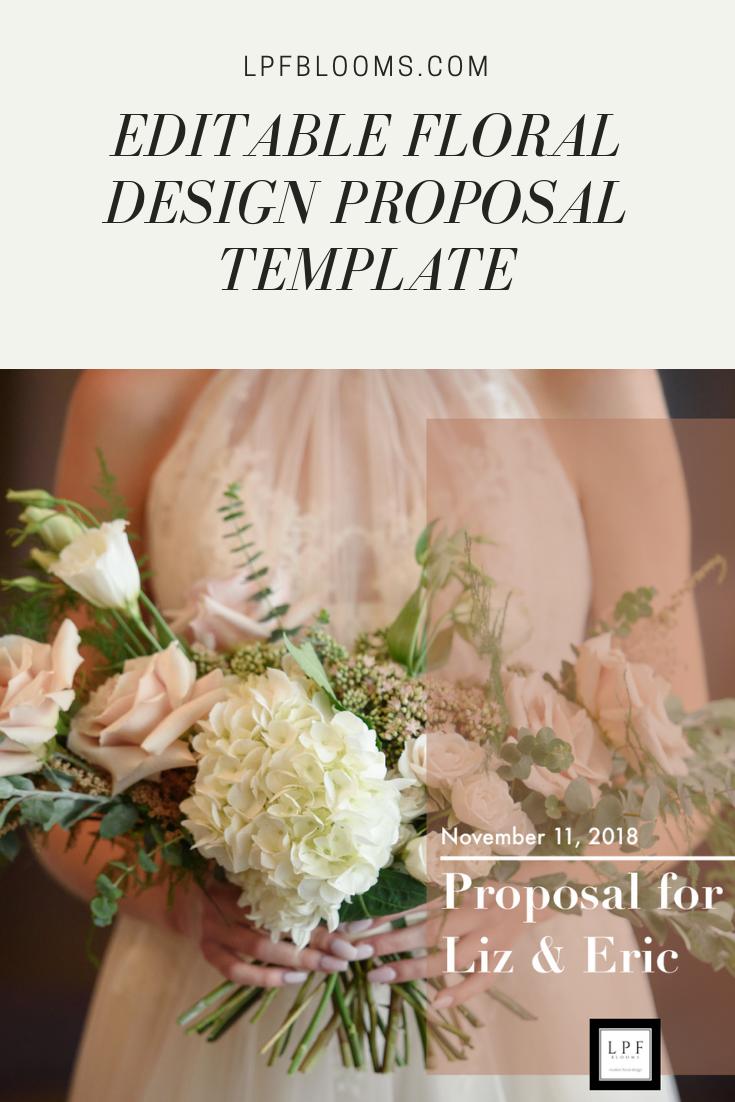 Customizable Proposal La Petite Fleur Pinterest Floral Design