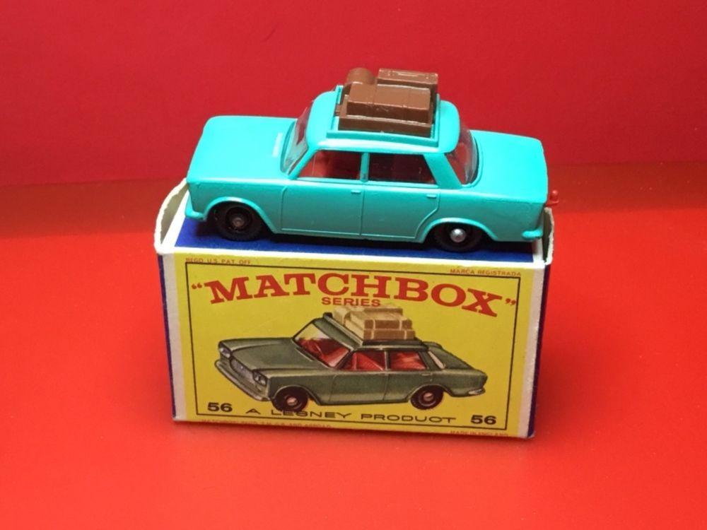 Rare Vintage 1965 Lesney Matchbox 56 B Fiat 1500 Mint In Box Unplayed With Matchboxlesney Ford Matchbox Matchbox Cars Classic Toys