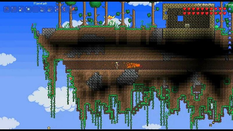 How To Find Floating Islands Terraria Floating Island Floating Island