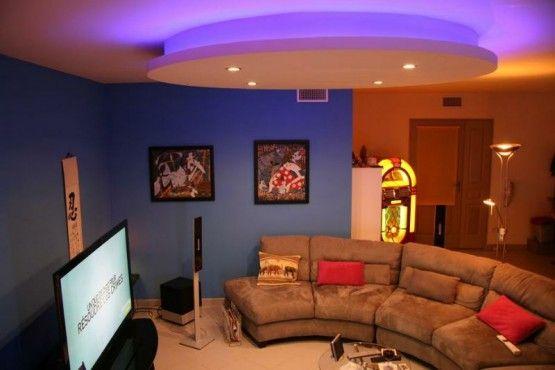 faux plafond placopl tre design bandeau led ets morcant pinterest. Black Bedroom Furniture Sets. Home Design Ideas