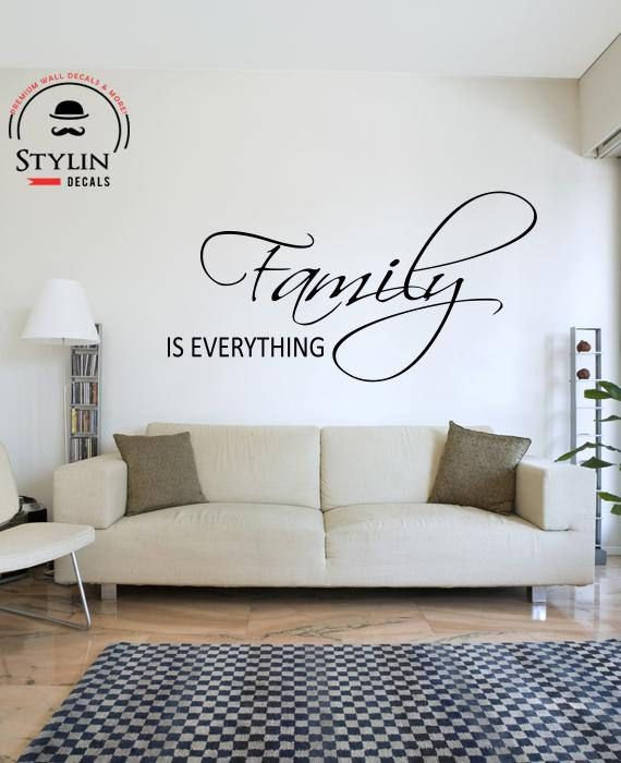 FAMILY IS EVERYTHING Vinyl Wall Decal- Vinyl Wall Quote- Wall ...