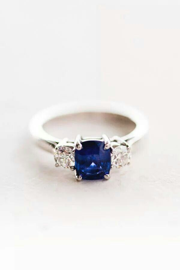 Gorgeous Sapphire Ring Blue Engagement Ring Wedding Rings