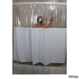 Sneakk Solid Color W Clear Vinyl Shower Curtain This K A Boo Features Top And Bottom View Window To Allow