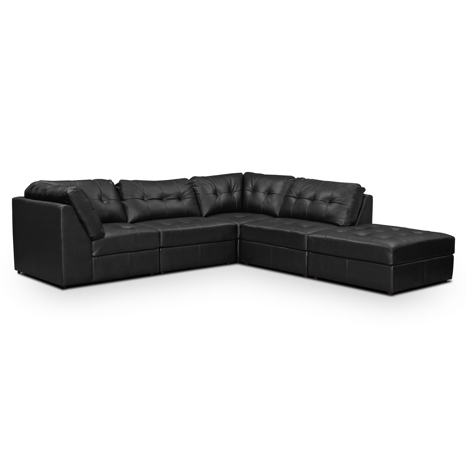 Aventura Leather 5 Pc Sectional Value City Furniture
