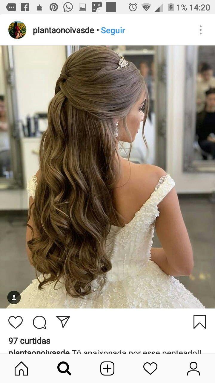 Hermoso peinados de novia pelo suelto Fotos de cortes de pelo Ideas - TODOO ACERCA DE LOS 15   Peinados pelo suelto boda ...