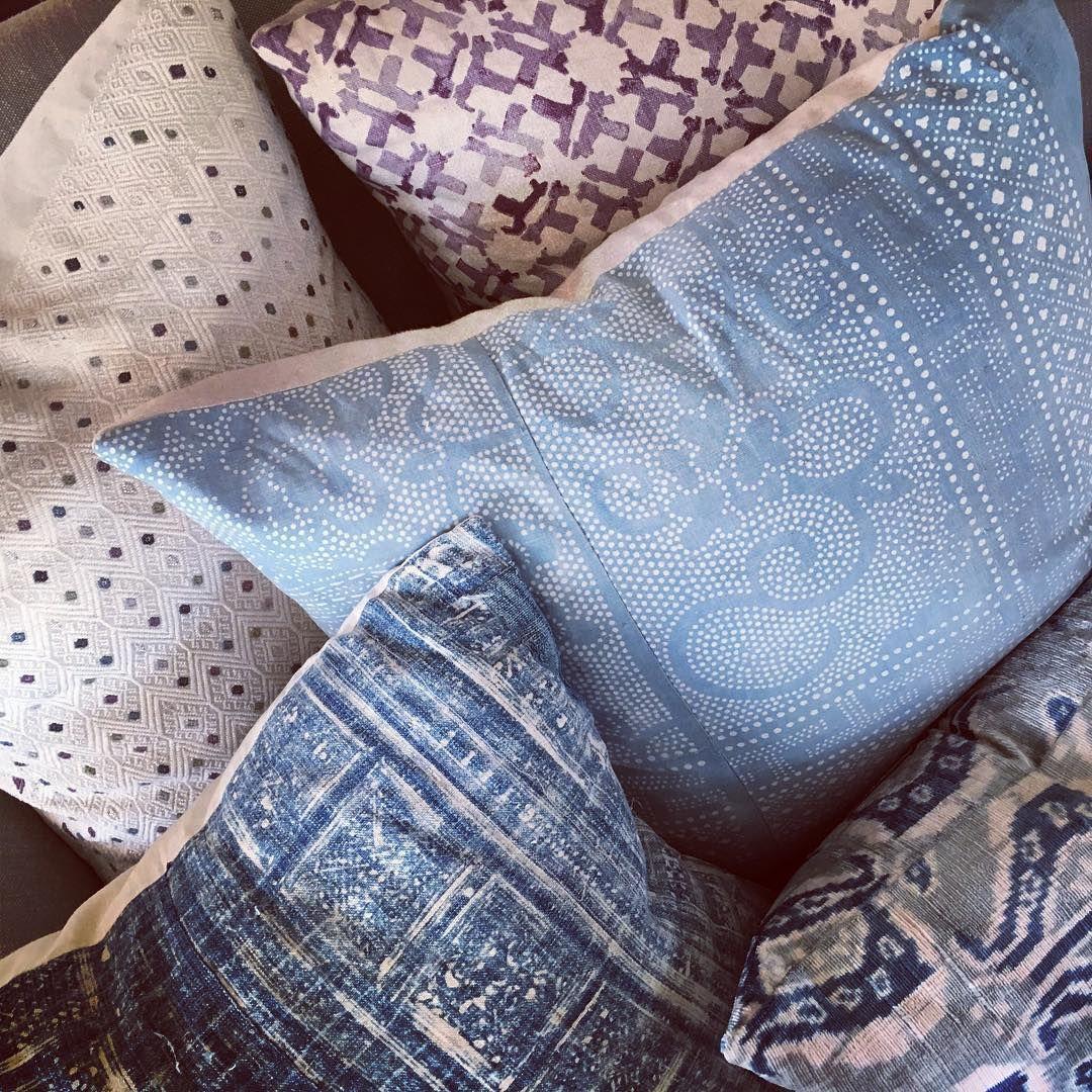 Having major pillow envy of our clients living room. That summery light cornflow...#clients #cornflow #envy #light #living #major #pillow #room #summery