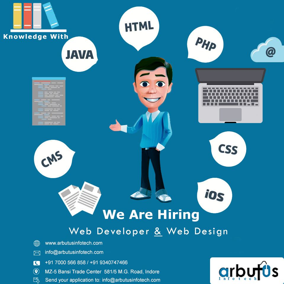 Web Developer Web Designer Web Development Hiring Poster Web Design