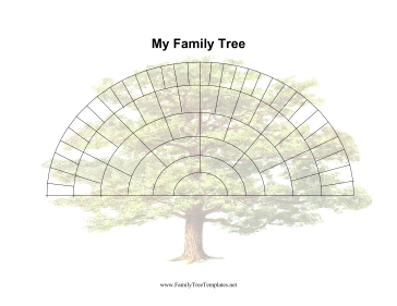 6 Generation Fan Family Tree Template | Printables | Pinterest ...