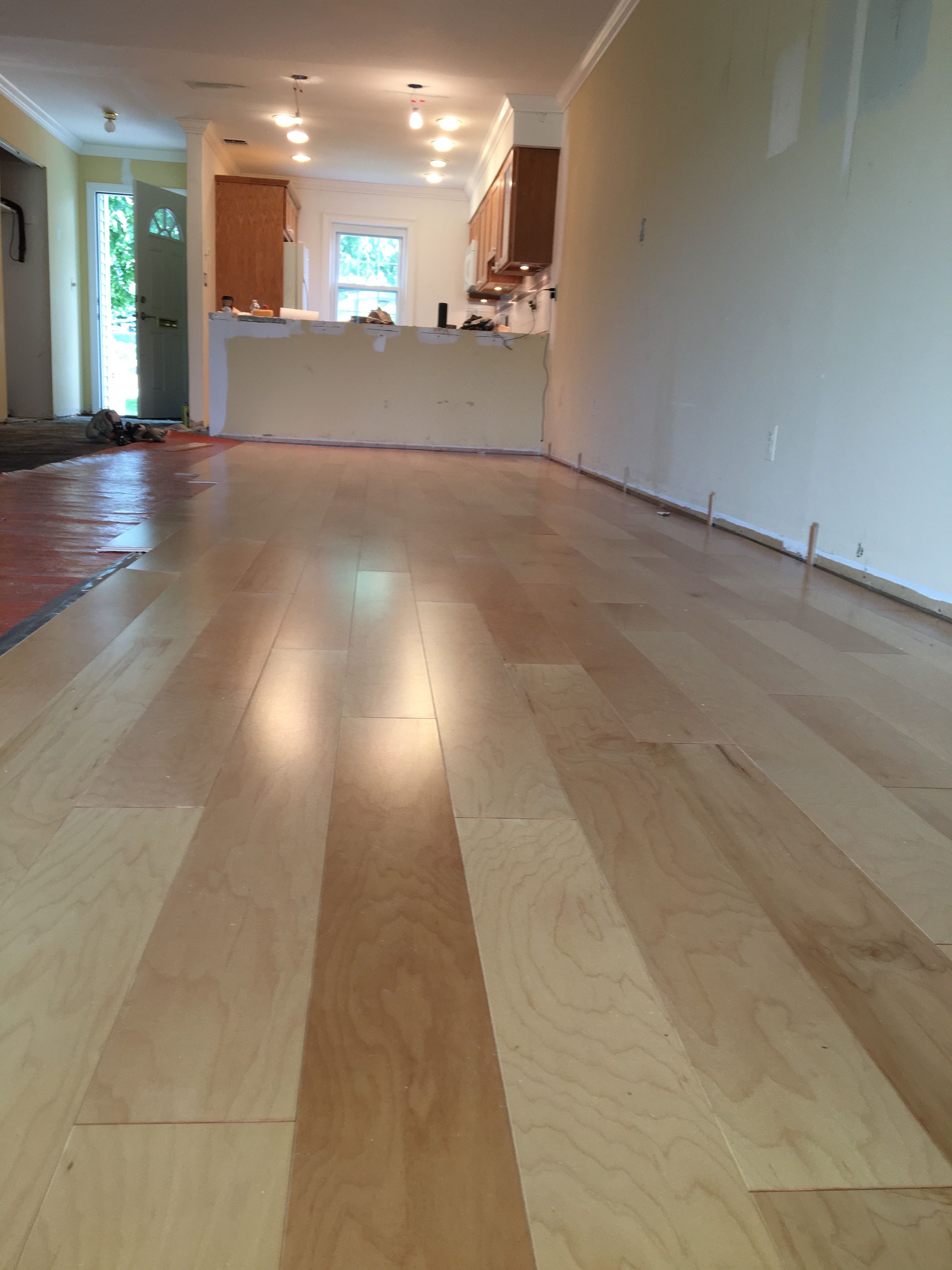 Style Selections Country Maple Engineered Clicklock Flooring From - Lowes click and lock flooring