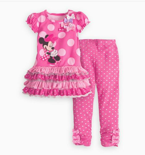 c3837826f313 2PCS Christmas Gift Minnie Mouse Girls Baby Dress+Pants Outfits 1-5Y  225
