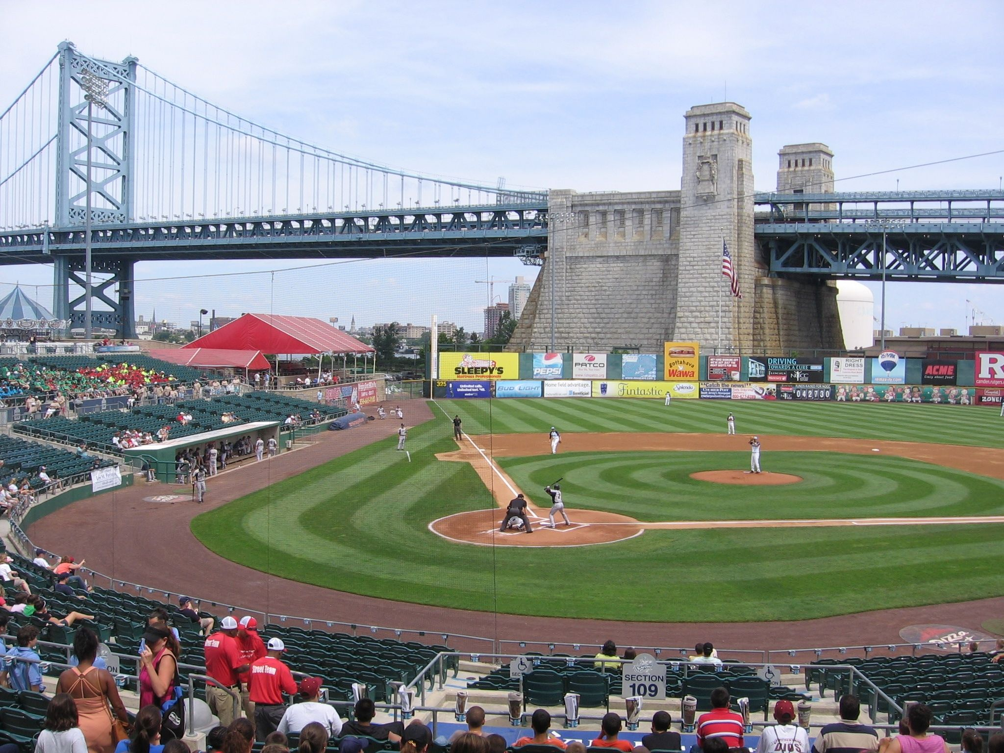 Campbell S Field In Camden New Jersey Home Of The Camden River Sharks Independent No Mlb Affiliation Atlantic Baseball Stadium New Jersey Neptune City