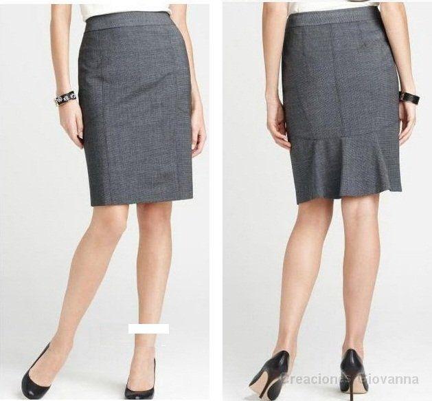 617bddb9f Falda ejecutiva | faldas casuales | Faldas ejecutivas, Faldas y ...
