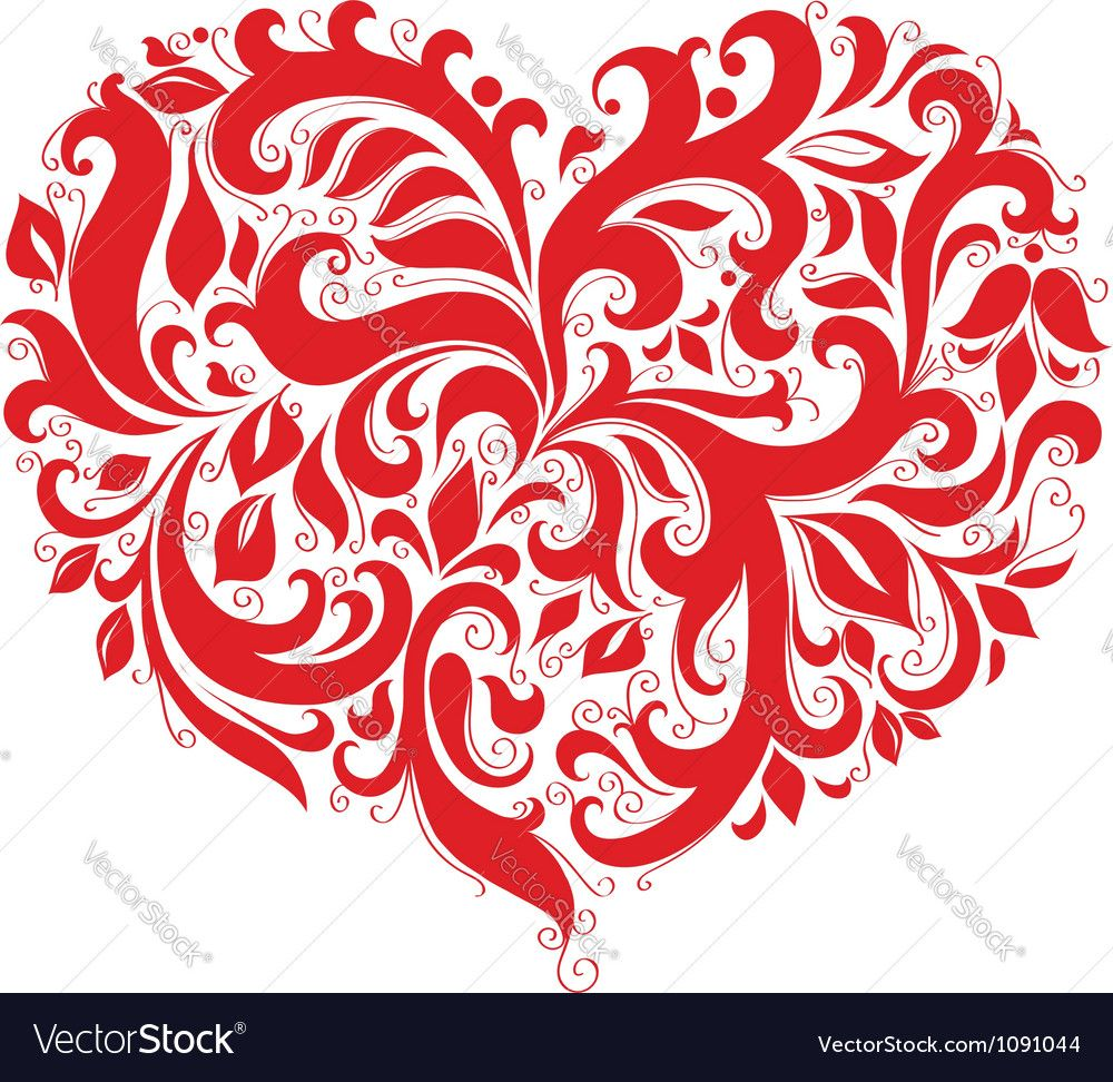 Red Patterned Valentine Symbol Heart Download A Free Preview Or