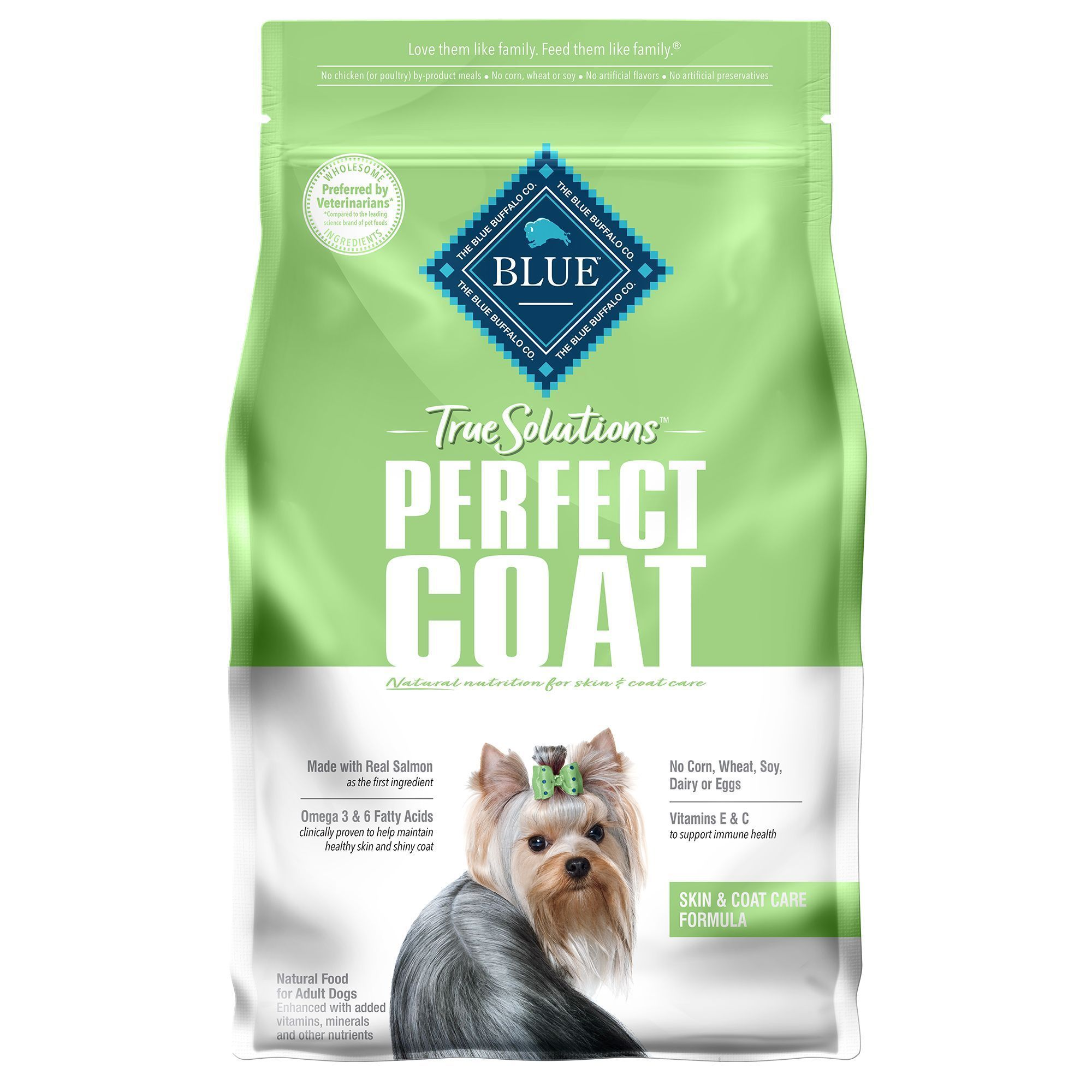 Blue Buffalo True Solutions Perfect Coat Skin And Coat Dog Food Size 4 Lb In 2020 Blue Buffalo Dog Food Recipes Dry Dog Food