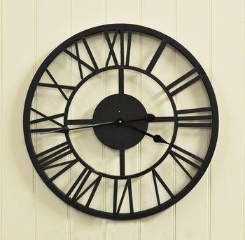 Black Roman Numeral Indoor And Outdoor Wall Clock 56cm Outdoor