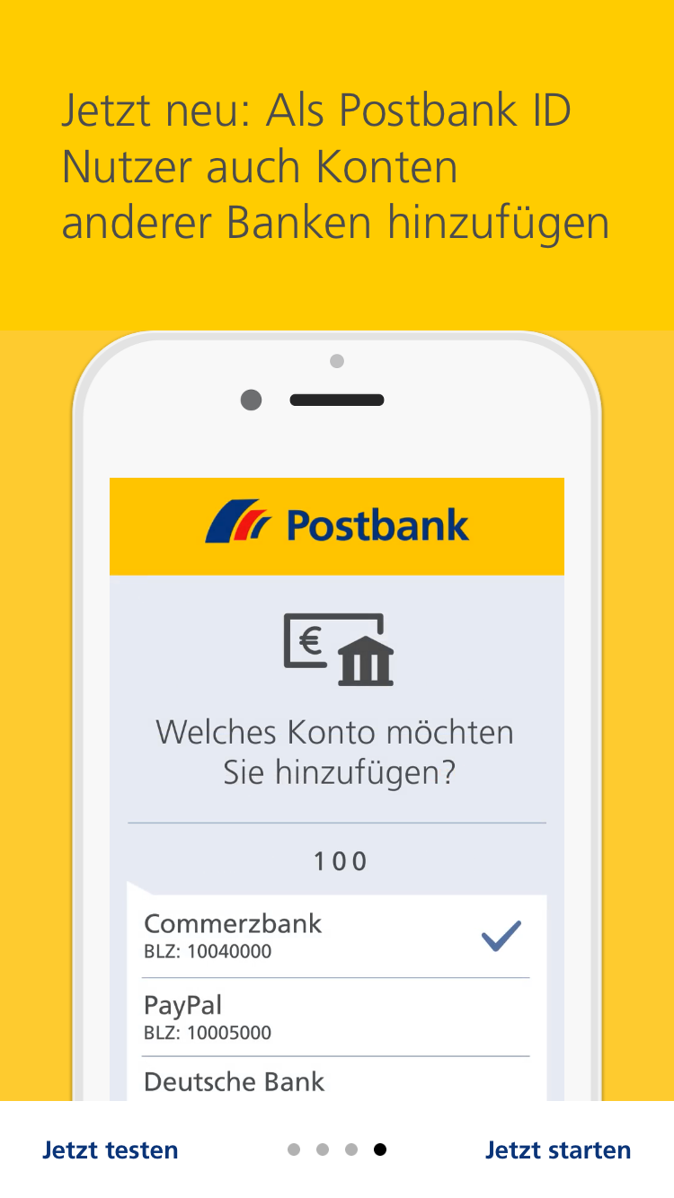 Postbank Animierte Product Tour Mit Kernfeatures 4 Gaming Logos App Logos