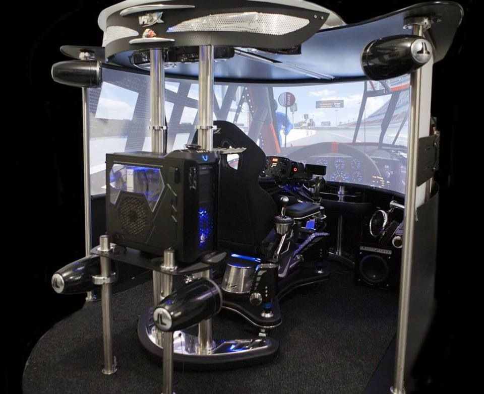 awesome sim racing rig thesimpit gamer setup flight. Black Bedroom Furniture Sets. Home Design Ideas