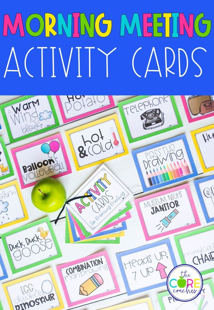 Morning Meeting Activity Cards Editable Morning meeting